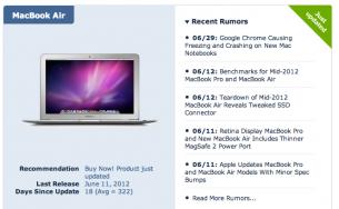 la gente de Macrumors ha creado una página en la que rastrean todos los productos Apple y nos aconsejan si es bueno comprarlo ahora o no.